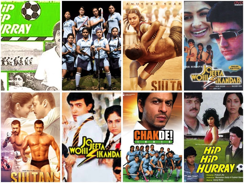 Sports film from India. Hip Hip Hurray. Jo Jeeta Wohi Sikandar. Chak De India. Sultan.