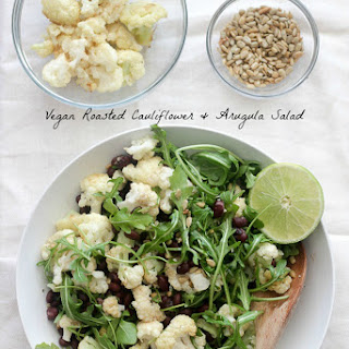 Roasted Cauliflower, Black Bean & Arugula Salad