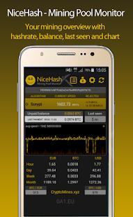 NiceHash Mining Pool Monitor - náhled