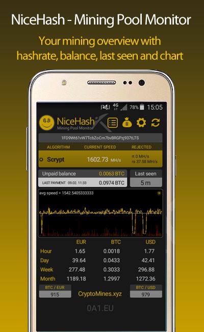 NiceHash Mining Pool Monitor