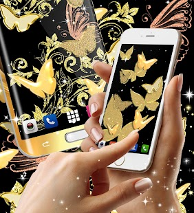 Gold butterfly live wallpaper - náhled
