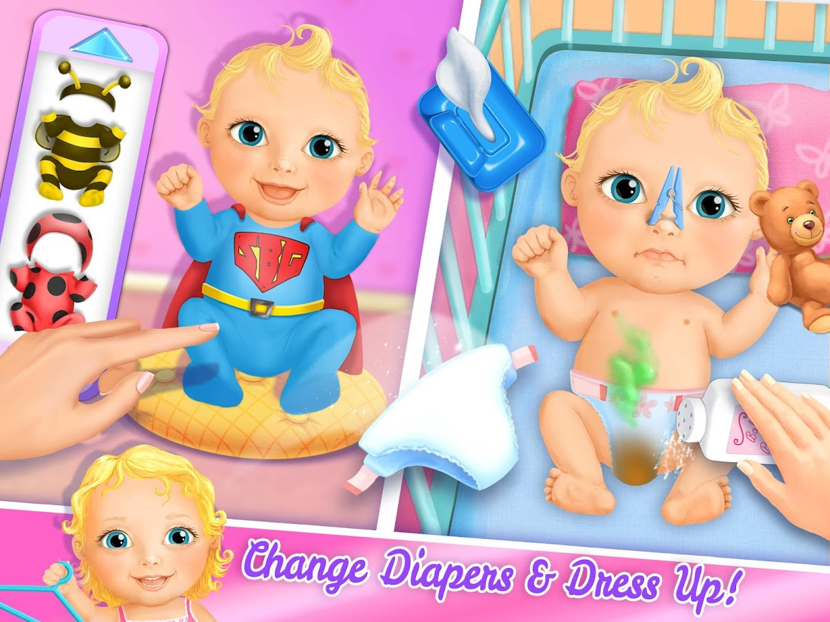 Sweet Baby Girl Doll House - Play, Care & Bed Time- screenshot
