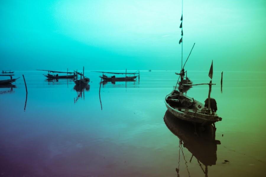 Kesunyian Pagi by Redcircle Fine Art - Landscapes Beaches