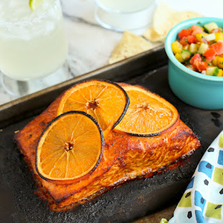 Grilled Chipotle-Orange Salmon.