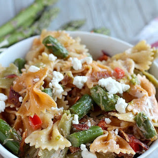 Pasta Salad with Asparagus and Goat Cheese.