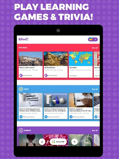 Screenshot 5 for Kahoot's Android app'