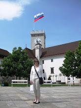 Photo: Ljubljana Castle Tower - ja Pirkko vapunpäivänä