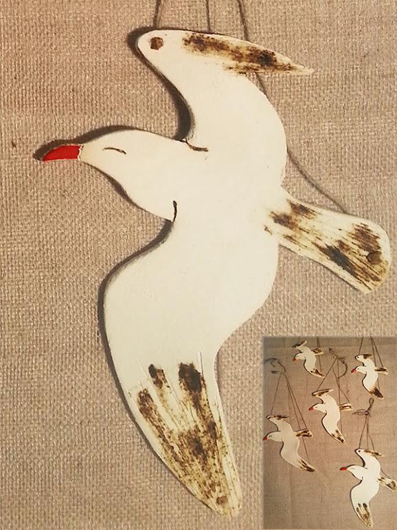 γλάρος κεραμικός κρεμαστός