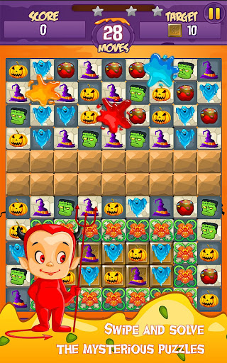 Halloween Smash 2020 - Witch Candy Match 3 Puzzle apkmr screenshots 10
