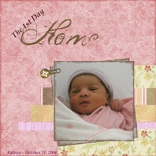"""Photo: Created 9/25/06.  Papers are from a freebie by Kim Hill , free papers by Jennie Papai, and Shabby Princess' Olivia Collection.  The photo edging and the """"Home"""" wording also from the Olivia Collection. The paper clip is from Diane Bavin's Divine Jewels kit.  Done for the Scraplift Challenge at Simply Clean DigiScraps, layout inspired by this one (http://tinyurl.com/fxrrz)"""