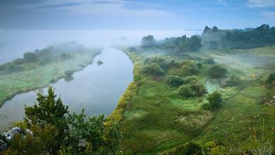 Photo: Poranne mgły nad Wisłą w Piekarach