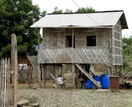 Photo: Bamboo house outside of Manta Equador