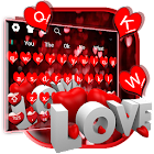 Red Glitter Love Keyboard icon