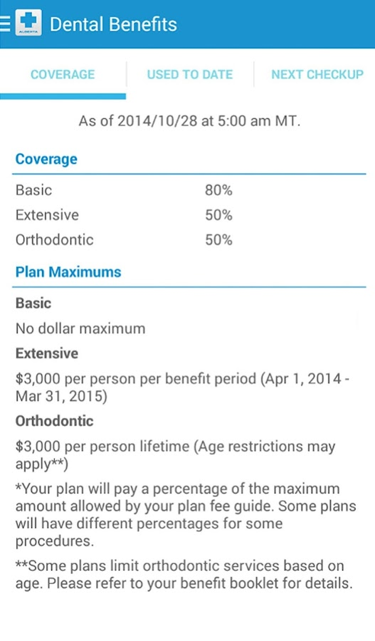 Alberta Blue Cross-My Benefits- screenshot