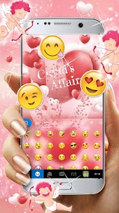 Cupids Affairs Lovely Free Emoji Keyboard Theme - náhled