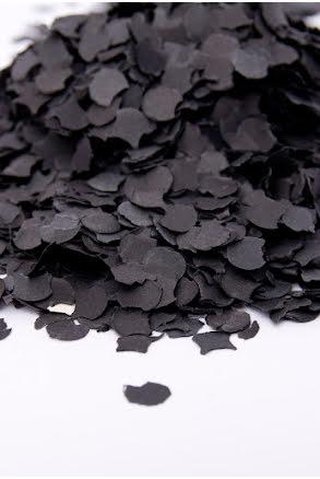 Konfetti, svart