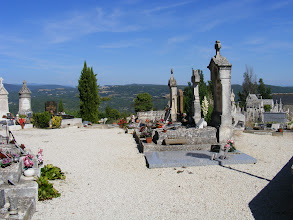 Photo: And we end the day's touring with a brief stop at the village cemetery (another one of my French interests).