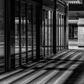 Street Hut by Barry Smith - Black & White Buildings & Architecture ( mono, street, buildings, monochrome, black and white )