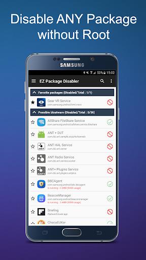 Download APK: EZ Package Disabler (Samsung) v2.3.2 Patched