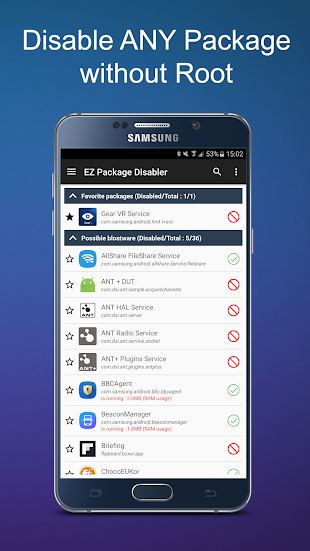 EZ Package Disabler (Samsung)- screenshot thumbnail
