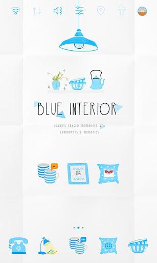 Blue Interior Widgetpack theme