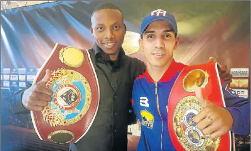 WBO champion Zolani Tete, left, and Emmanuel Rodriguez, IBF champion, are two of the boxers who have confirmed their participation in the upcoming World Boxing Super Series. Picture: FILE