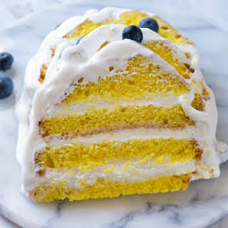 Easy Lemon Ice Cream Cake.