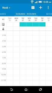 Kalendář HTC - náhled