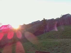Photo: sun setting