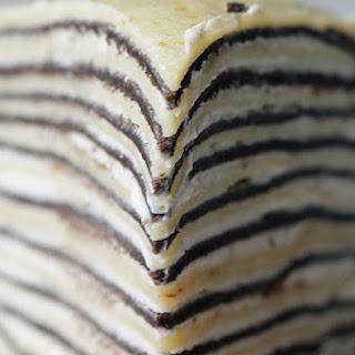 Awaken Your Dessert-Love Sensors With This Black & White Mille Crepe.