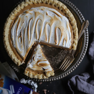 Caramel & Sea Salt Whiskey Silk Pie with Toasted Marshmallow