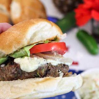 Blue Cheese Zucchini Beef Burgers Recipe