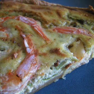 Avocado & Shrimp tart