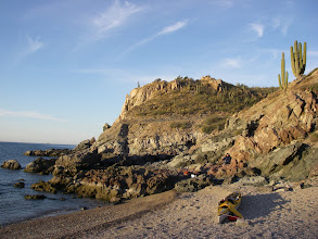 Photo: Morning at Las Cadenas Beach camp near Playa El Colorado. Casey & QCC