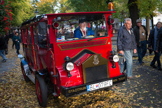 Photo: Tourist bus thing in Bratislava, Slovakia.