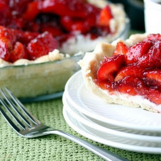 Strawberry Cream Pie with Pomegranate Glaze