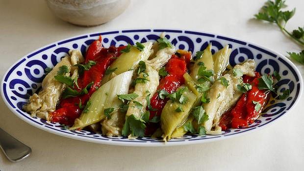 Roast Leek, Eggplant And Red Capsicum Salad Recipe | Yummly