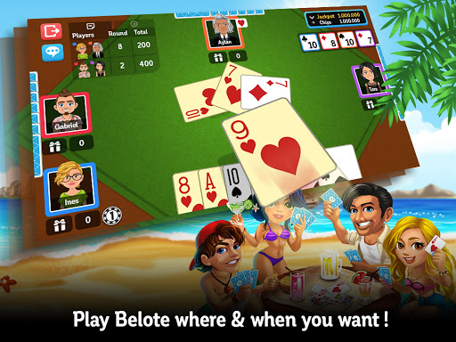 Multiplayer Belote & Coinche  gameplay | by HackJr.Pw 11