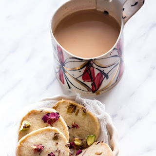Rose Pistachio Cookies {Shortbread }.