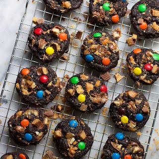 Dark Chocolate Candy Bar Cookies