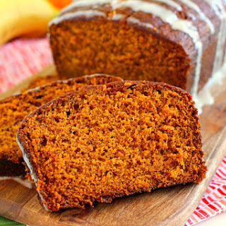 Honey Glazed Pumpkin Banana Bread.