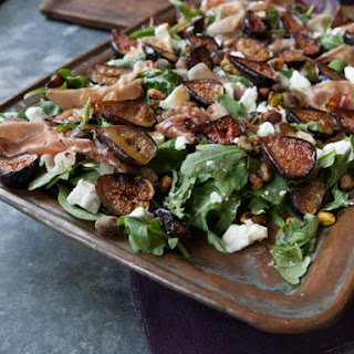 Roasted Fig Salad with Goat Cheese, Prosciutto and Arugula Recipe