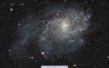 Photo: This view is not the full resolution, (Imgur has that one for me here = http://i.imgur.com/L6xQ2FX.jpg) I LOVE this galaxy, it's perhaps my new favorite deep sky object. I wish it fit into my field of view but I might want to shot again as a mosaic set of tiles. Do click on the high res view and look for the nebula, NGC Here's a link to the overlay to help locate some nebula in another galaxy! (http://www.starkeeper.it/img/M33_Mapped.png) Finally, I had some Ha data to help bring out the HII regions that appear red, but they were not adding much to the final result, so I omitted it. Thanks for reading!  #astronomy  #astrophotography  #galaxy  #messier