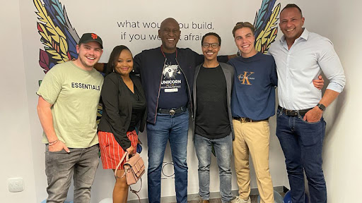 The Unicorn Group team at the launch of the incubation centre in Johannesburg.