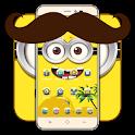 Happy friend cute cartoon icon theme icon