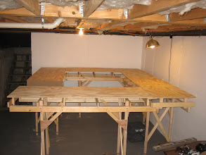 Photo: Plywood for cookie cutter installed over risers