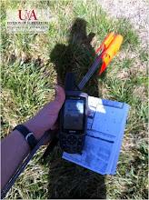 Photo: GPS used for grid soil sampling (3-1-12)