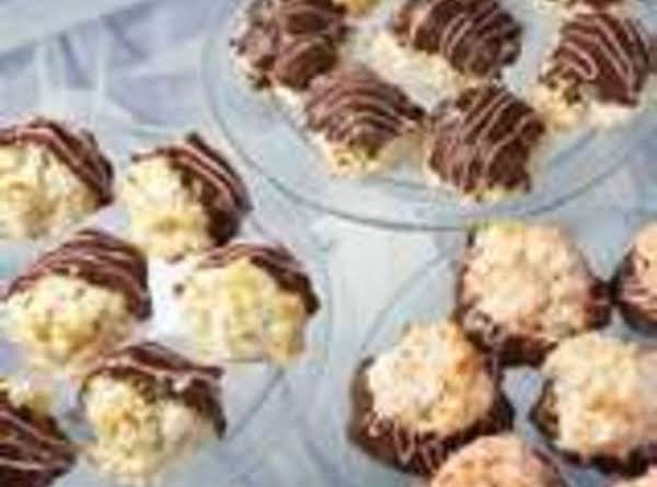 Coconut Macaroons Chocolate Dipped By Freda