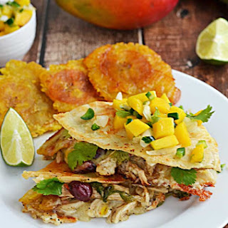 Jamaican Jerk Chicken Quesadillas