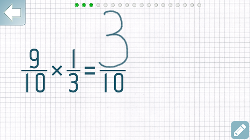 Multiplying Fractions Trainer app for Android screenshot